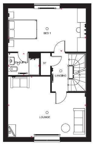 Kingsville Ginnel First Floor