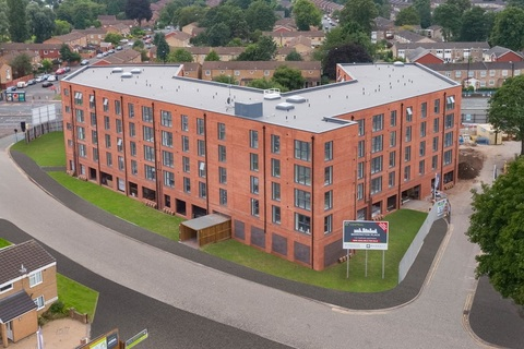 Aerial view of our 1 & 2 bedroom apartments at Berrington Place, Birmingham