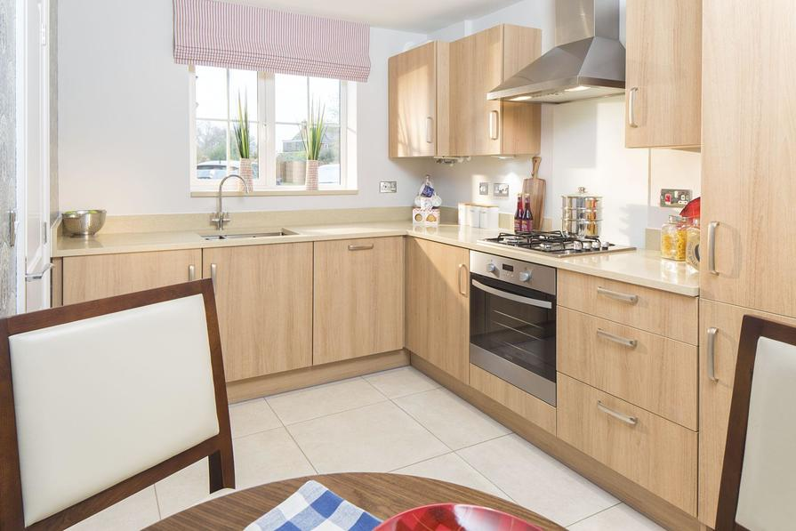 Typical Barwick fitted kitchen with family breakfast area