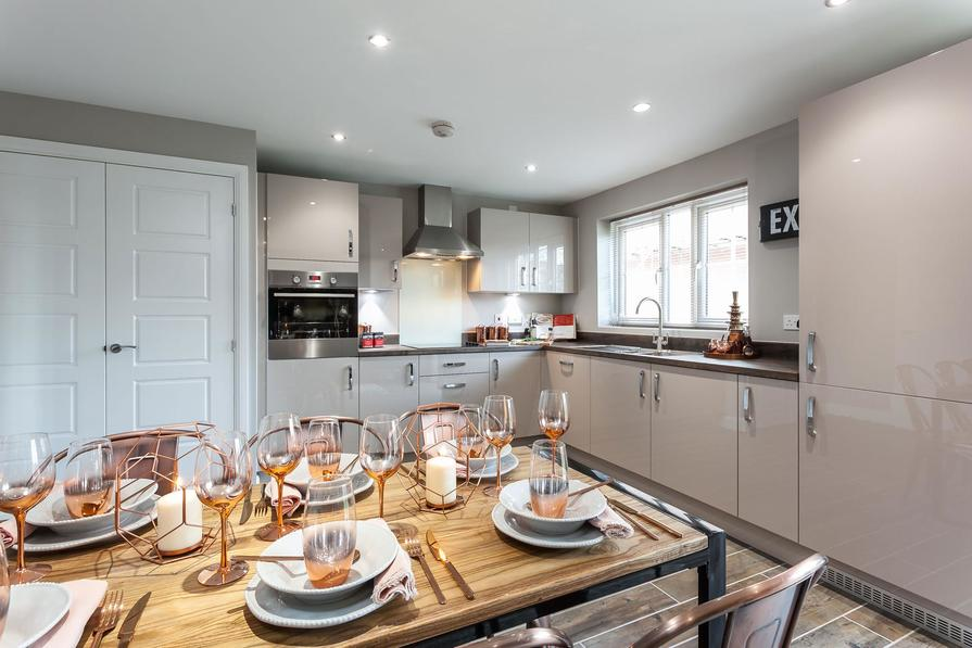 Typical Chesham kitchen and dining area with French doors