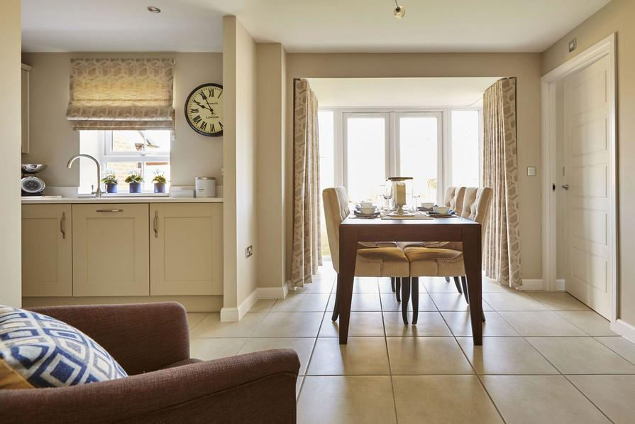 Typical Somerfield dining area to the kitchen with glazed bay and French doors