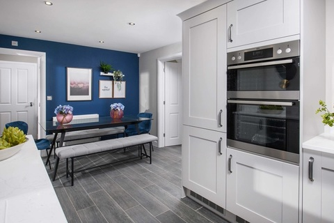 Open-plan kitchen diner in the Ripon Show Home