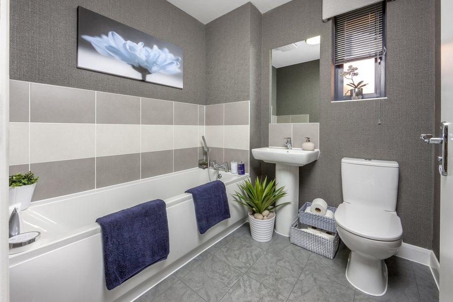 The Chaplin family bathroom at Cane Hill Park, Coulsdon