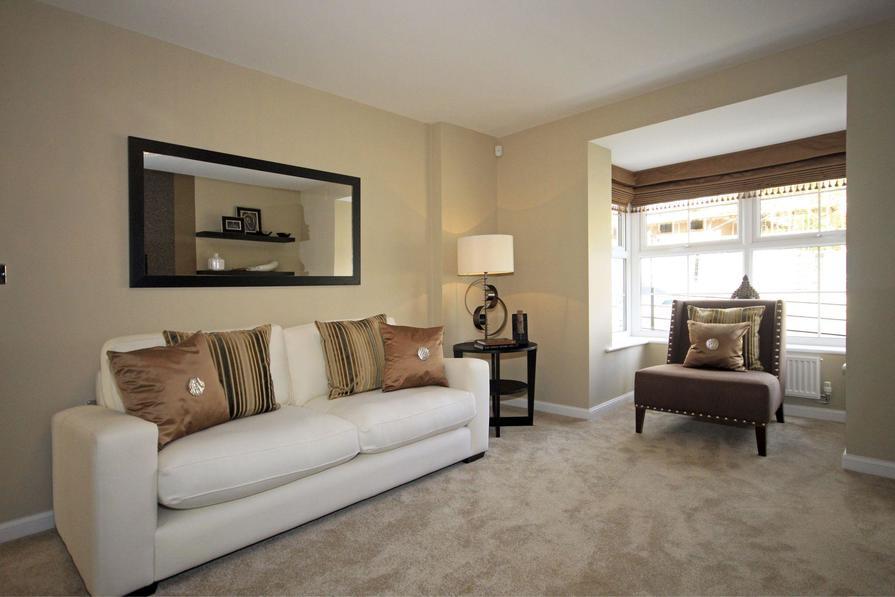 Typical Somerton lounge with glazed bay window