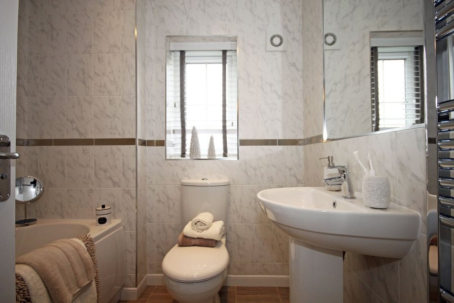 Typical Somerton fitted family bathroom