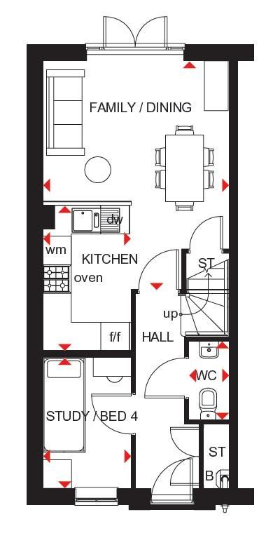 Kingsville ground floor plan