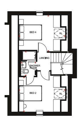 Hesketh Second Floor Plan