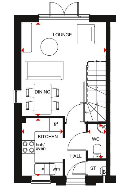 Washington ground floor plan