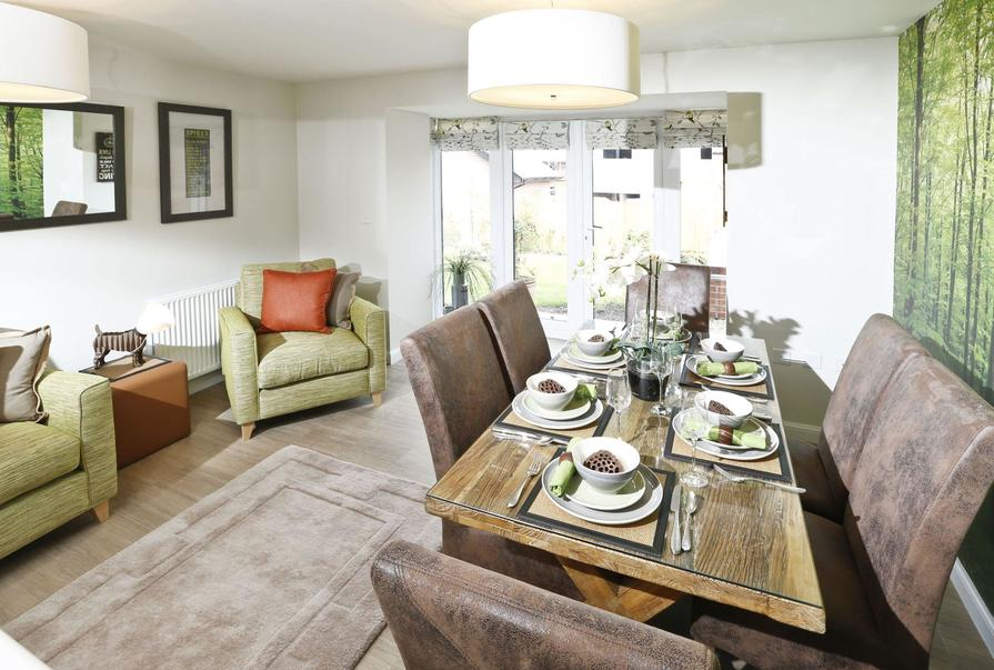 Typical Rochester living and dining area