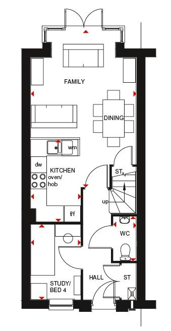 Fawley ground floor plan