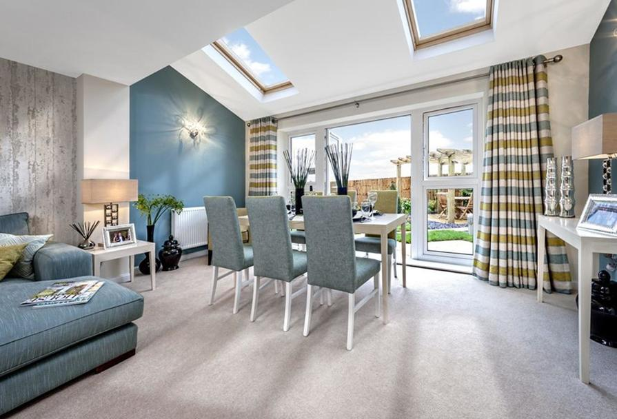 Living/dining room at The Woodvale,Kingley Gate, Littlehampton
