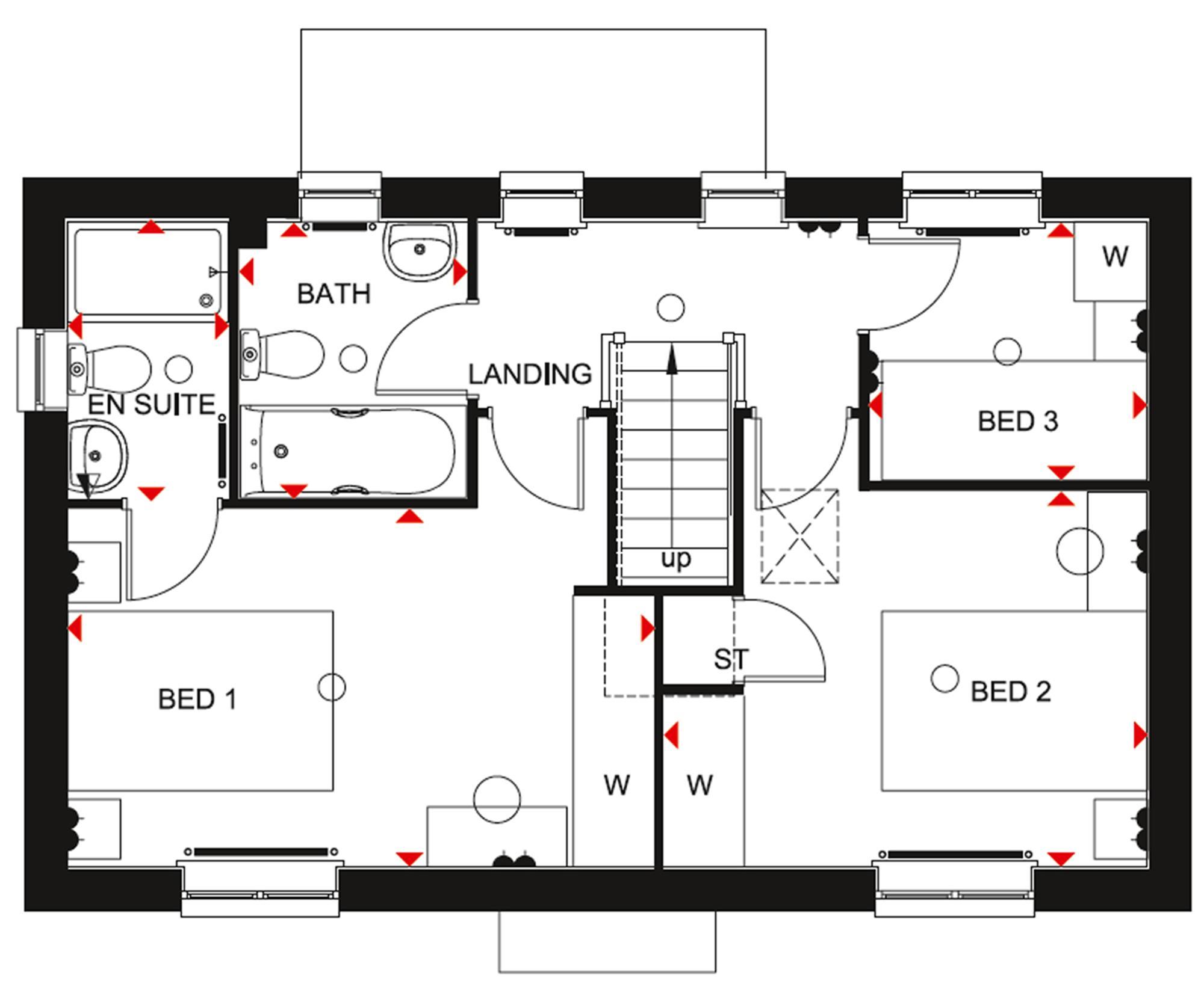 Detached House Plot 663 for 299995 in Longford Park Phase 3 in – Longford Homes Floor Plans