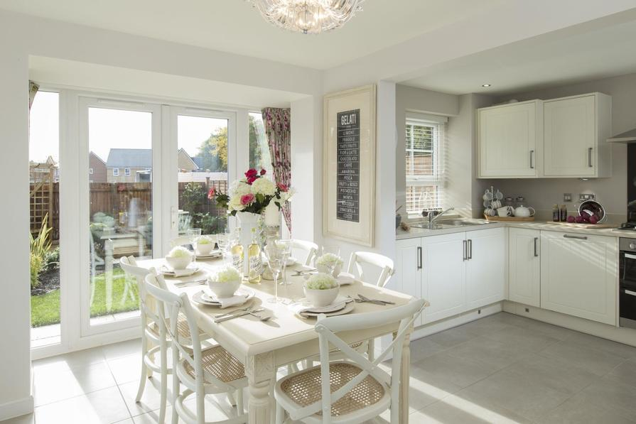 Typical Morpeth fitted kitchen and dining area