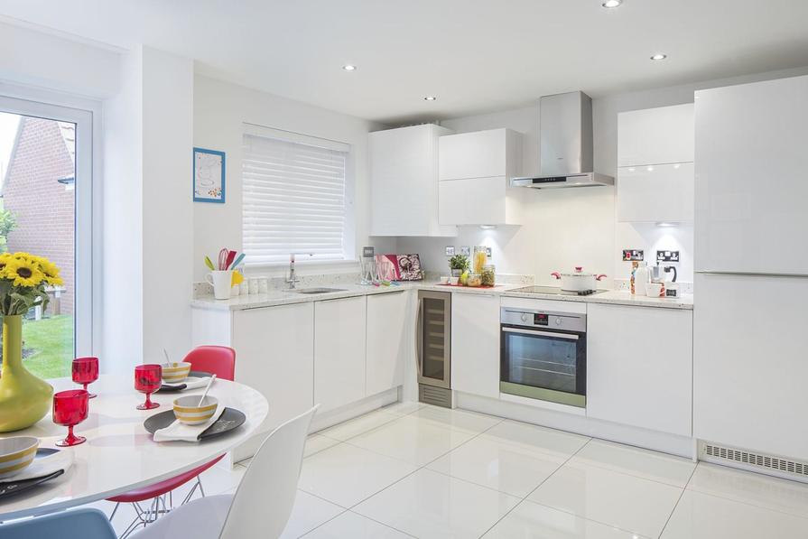 Typical Finchley fitted kitchen with family dining area and French doors