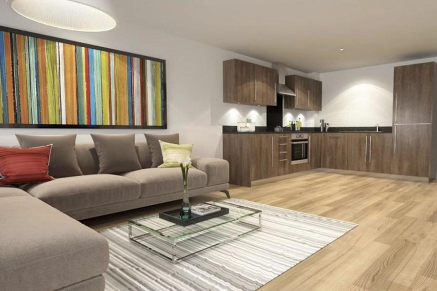 Oystercatcher lounge/kitchen
