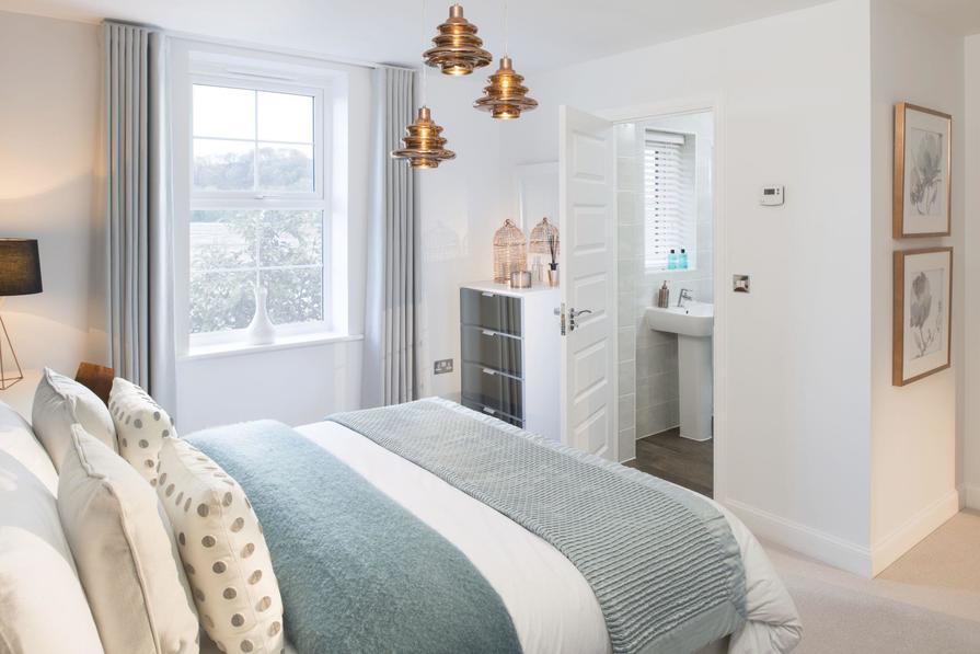Typical Heathfield master bedroom with modern en suite