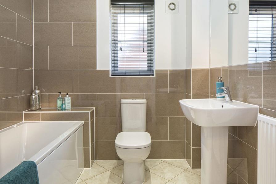 Typical Heathfield family bathroom