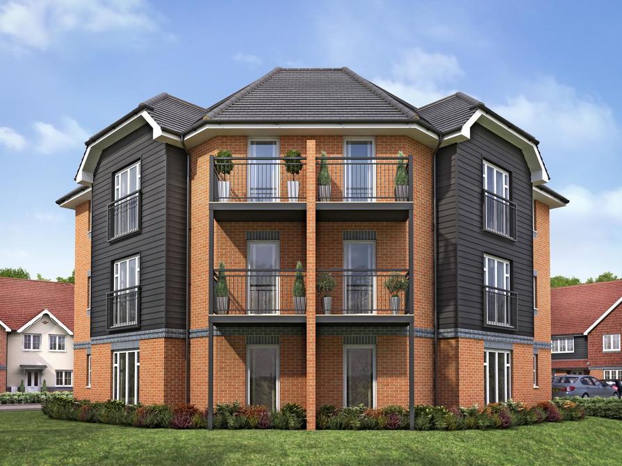 The Oaksmeade Court 1 bedroom apartments at Riverdown Park