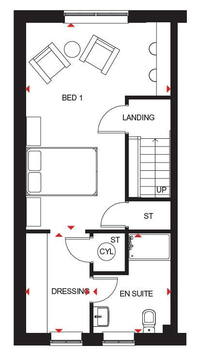 Stambourne second floor plan