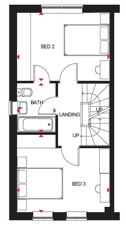 Stambourne first floor plan