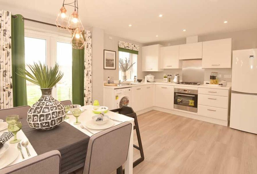 Typical Finchley fitted kitchen with dining area