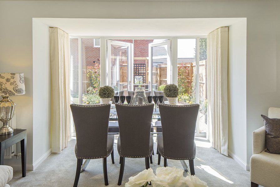 Dining with French doors