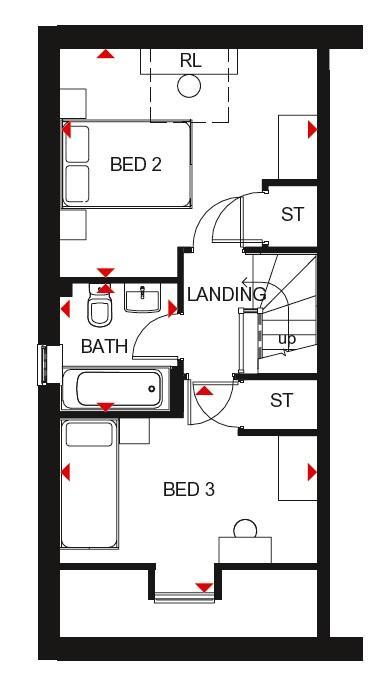 Queensville second floor plan