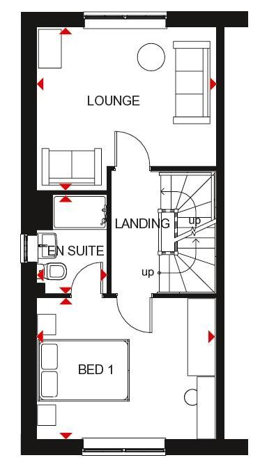 Queensville first floor plan