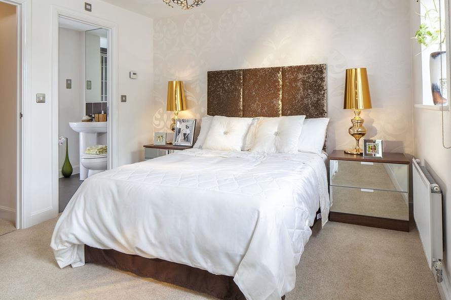 Typical Faversham master bedroom with modern en suite