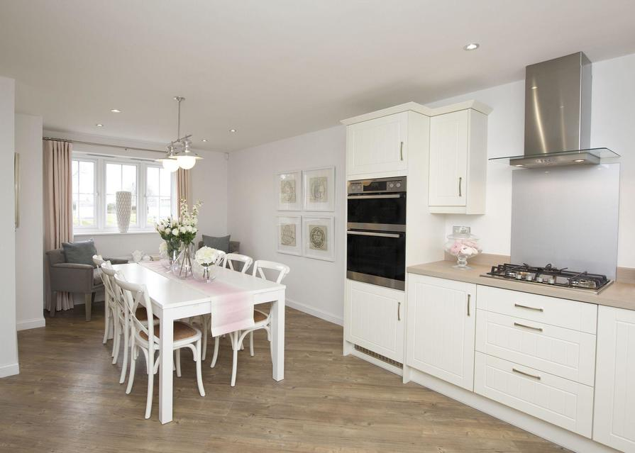 Typical Thornbury dining and family area to the fitted kitchen