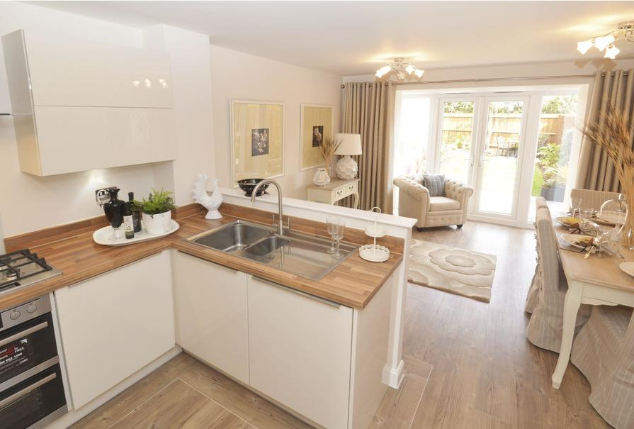 Typical Rochester fitted kitchen and dining area