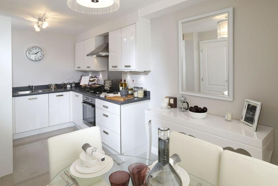 Typical Hythe fitted kitchen and dining area