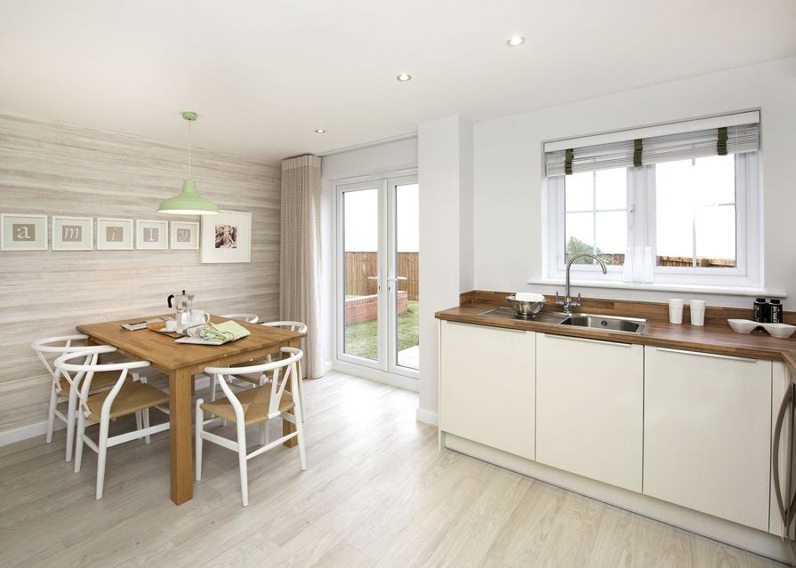 Typical Finchley fitted kitchen and dining area