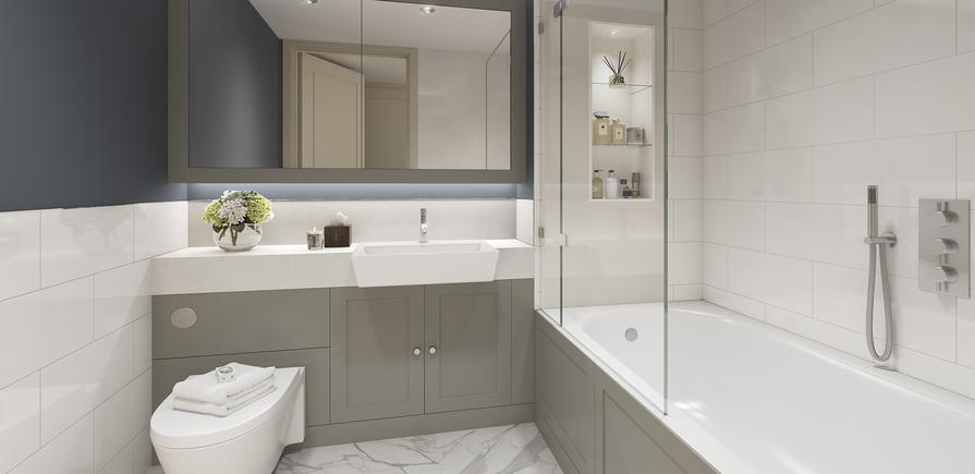 Berkeley, Chiswick Gate, Apartments, Bathroom, Internal