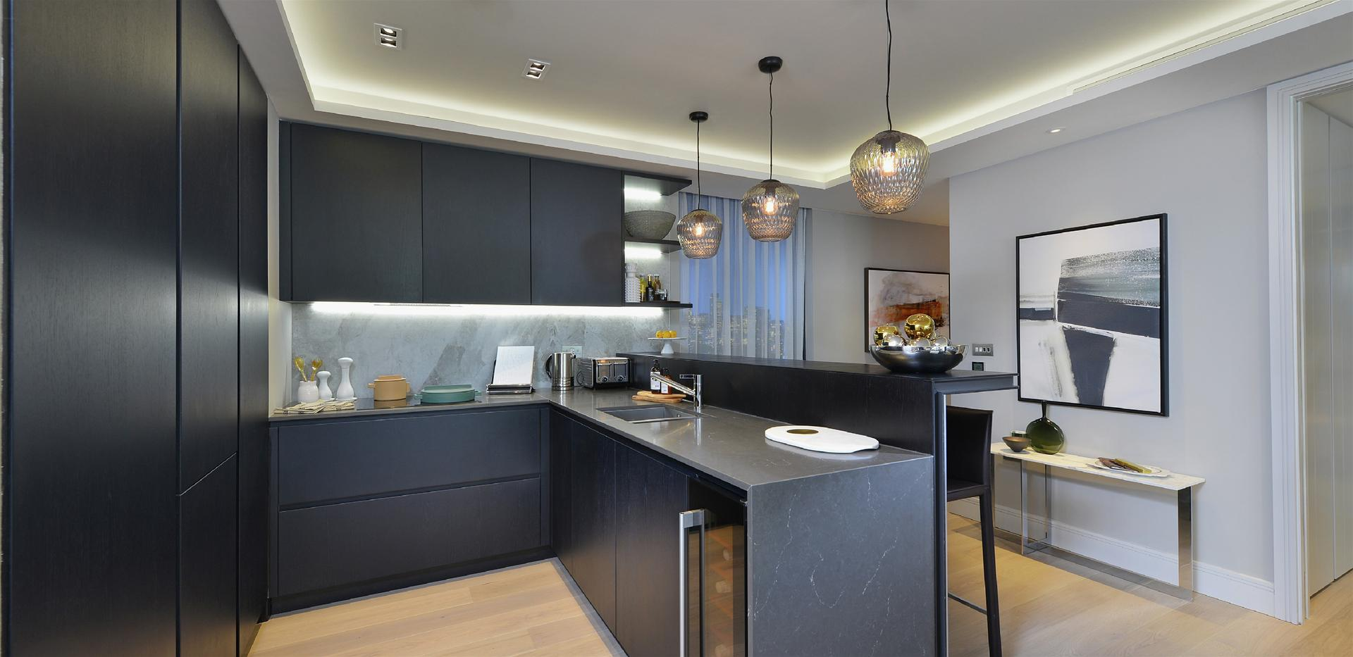 Berkeley, 250 City Road, Islington, Show Apartment, Kitchen, Interior