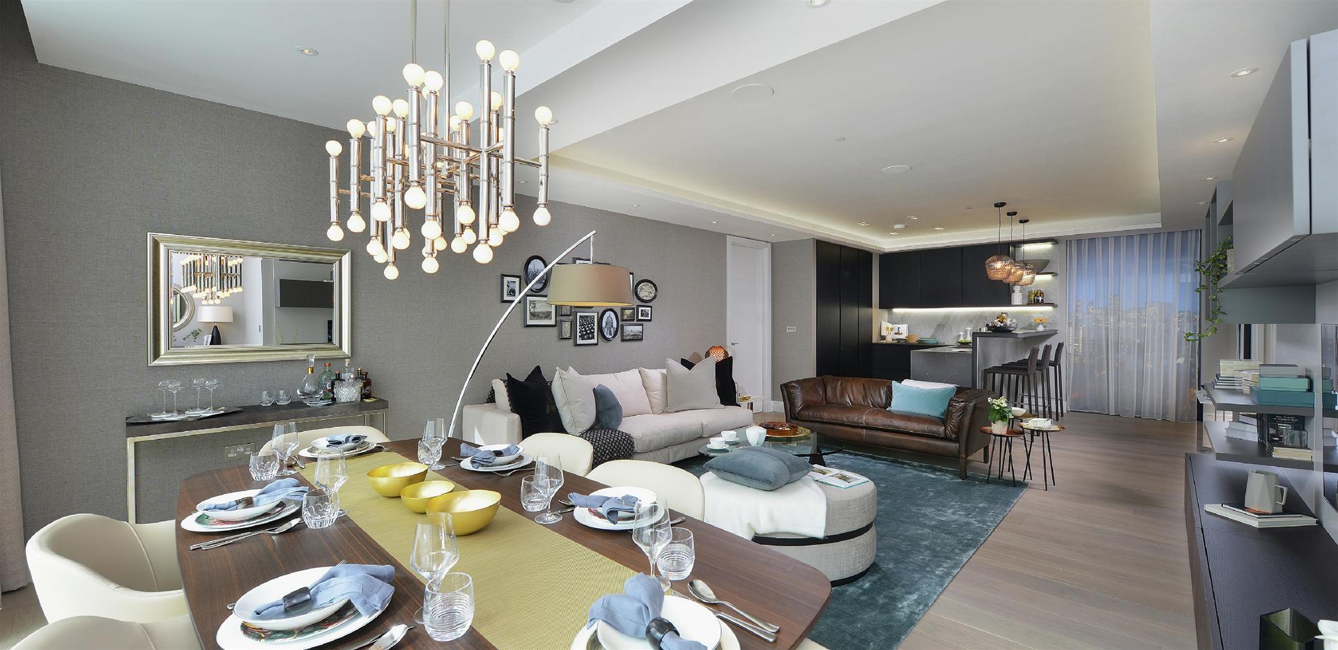 Berkeley, 250 City Road, Islington, Show Apartment, Living Room, Interior