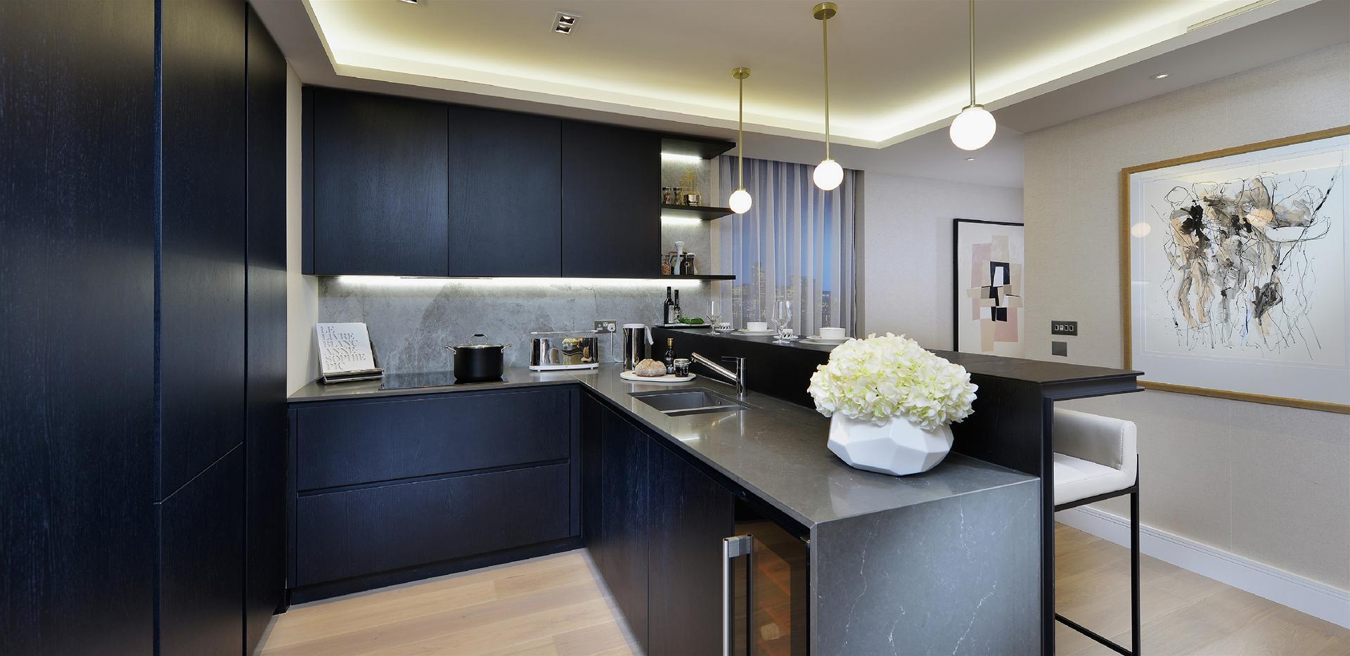Berkeley, 250 City Road, Islington, Interior, Show Apartment, Kitchen