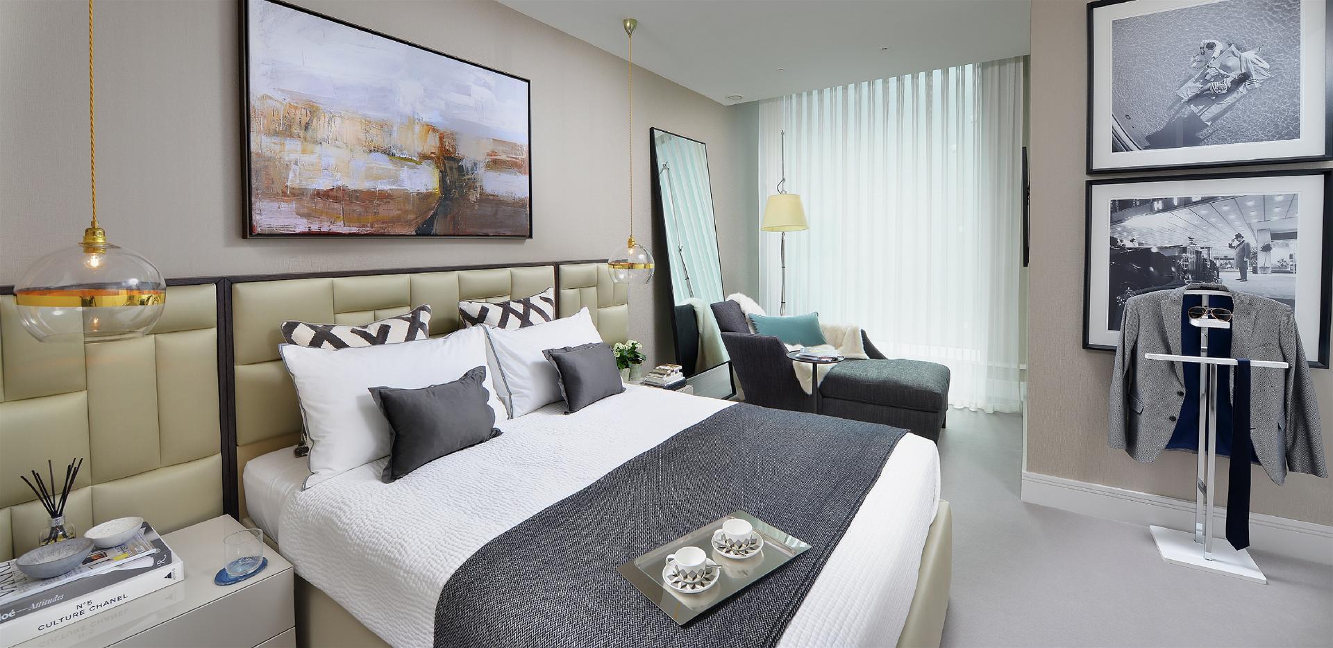 Berkeley, 250 City Road, Islington, Interior, Show Apartment, Master Bedroom