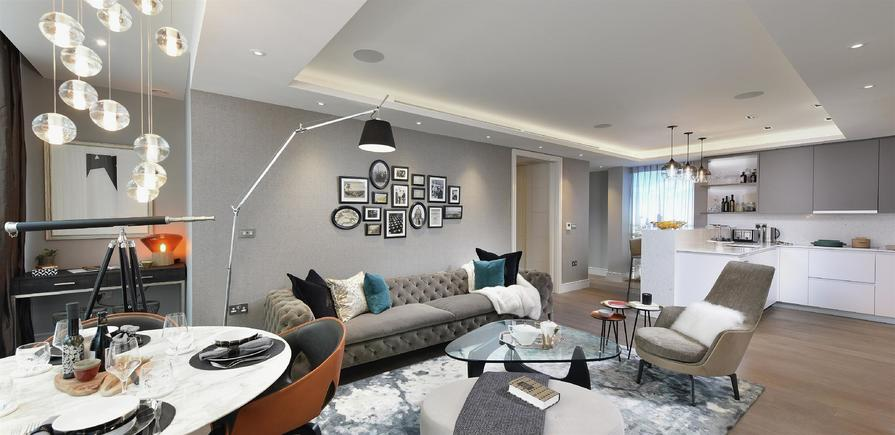 berkeley, 250 City Road, Islington, Interior, Show Apartment, living space