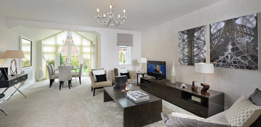 Berkeley, Bersted Park,Plot 1 Showhome Interior , Living