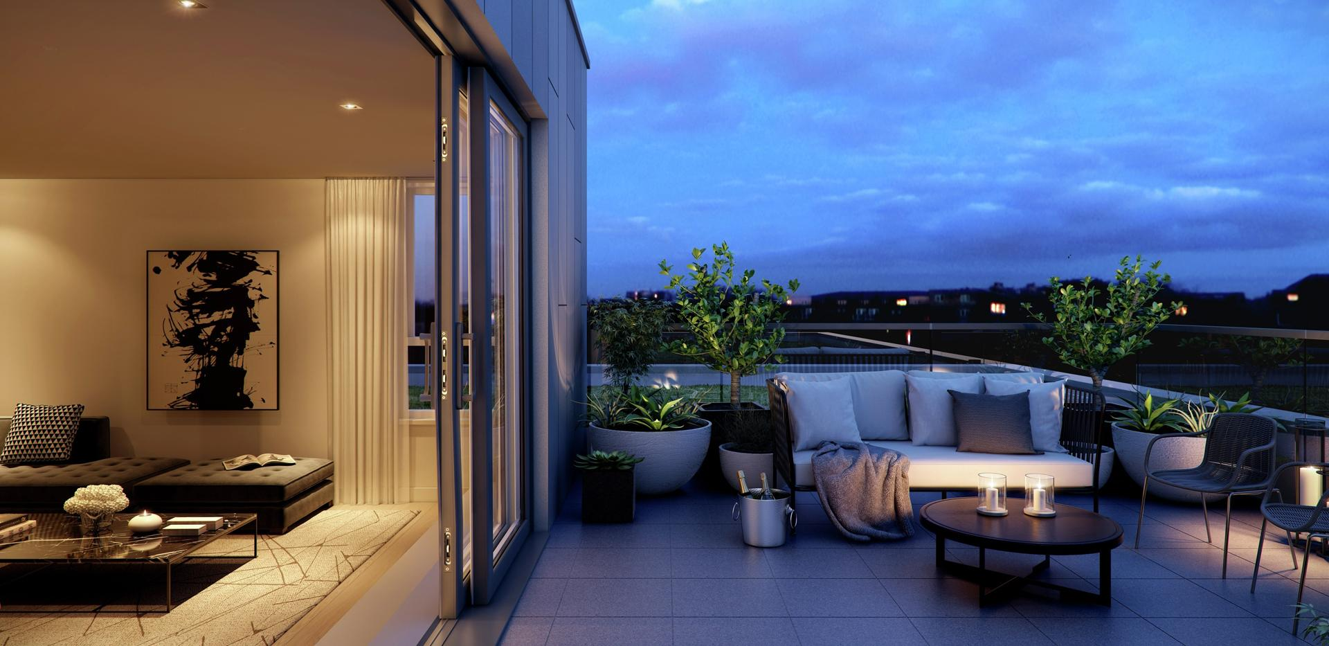 Berkeley, Brunswick Square, Living Room and Terrace
