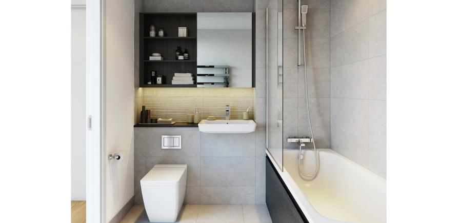 Berkeley, Brunswick Square, Interior, Bathroom 2