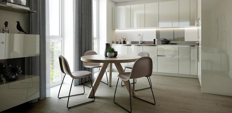 Berkeley, Brunswick Square, Interior, Dining and Kitchen