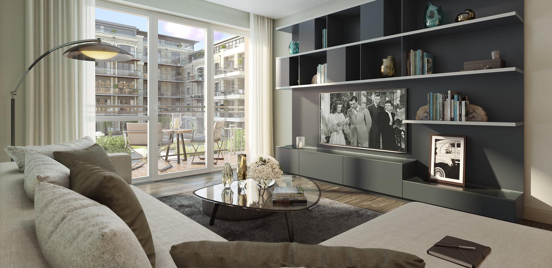Berkeley, Chiswick Gate, Apartments, Living Room, Internal