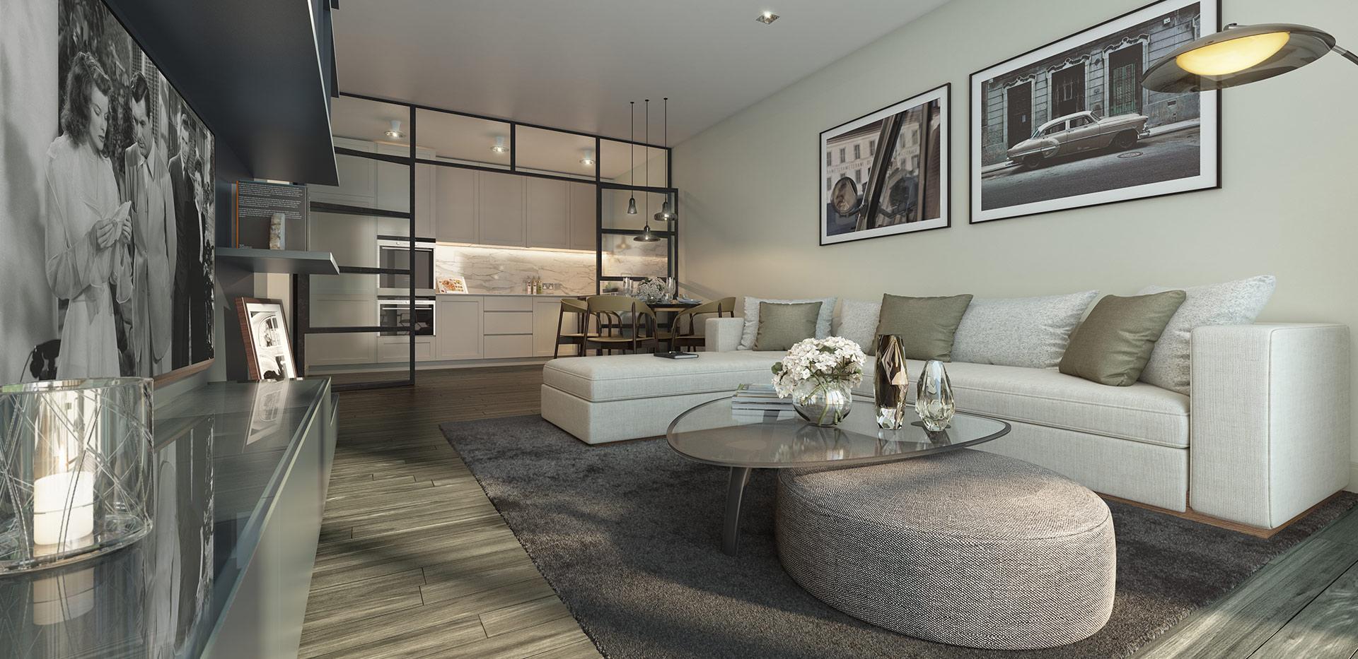 Berkeley, Chiswick Gate, Apartments, Living, Internal