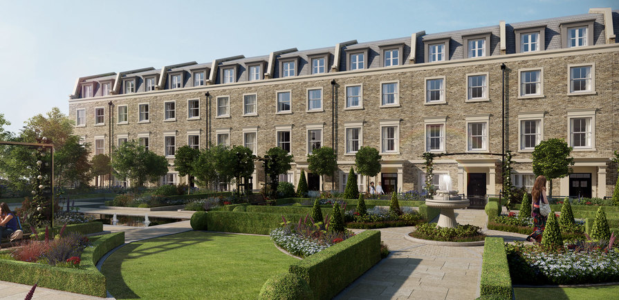 Berkeley, Chiswick Gate, Townhouse, Courtyard view,Header