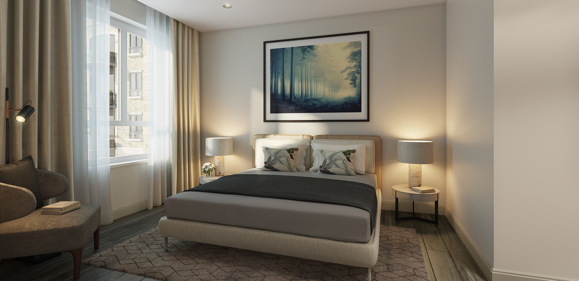 Berkeley, Chiswick Gate, Apartments, Bedroom, Internal
