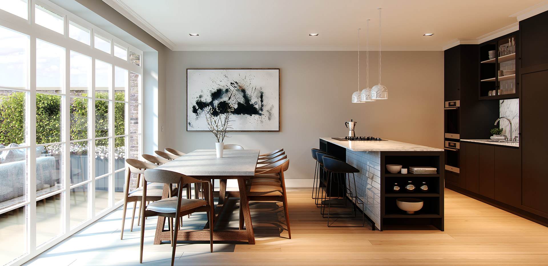 Berkeley, Chiswick Gate, Townhouses, Kitchen, Internal