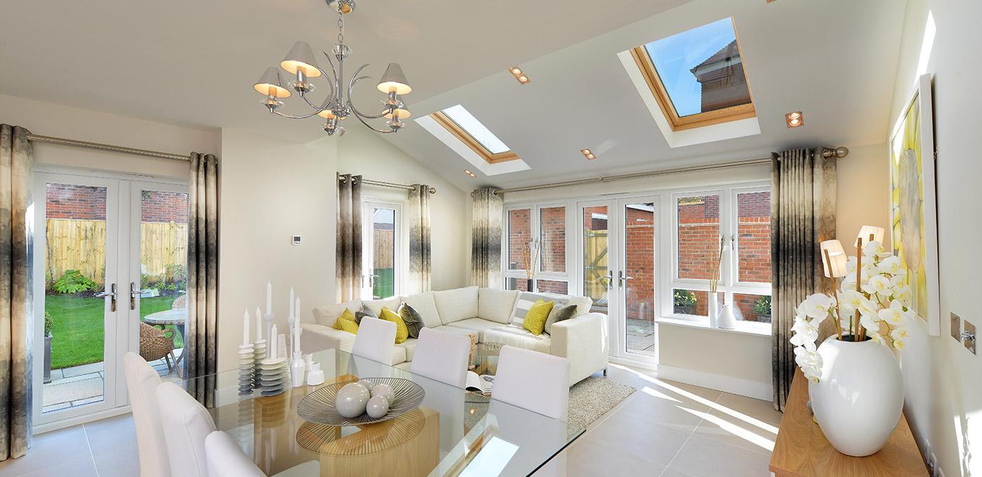 Berkeley, Edenbrook, Living Room, Lounge, Dining Area, Interior