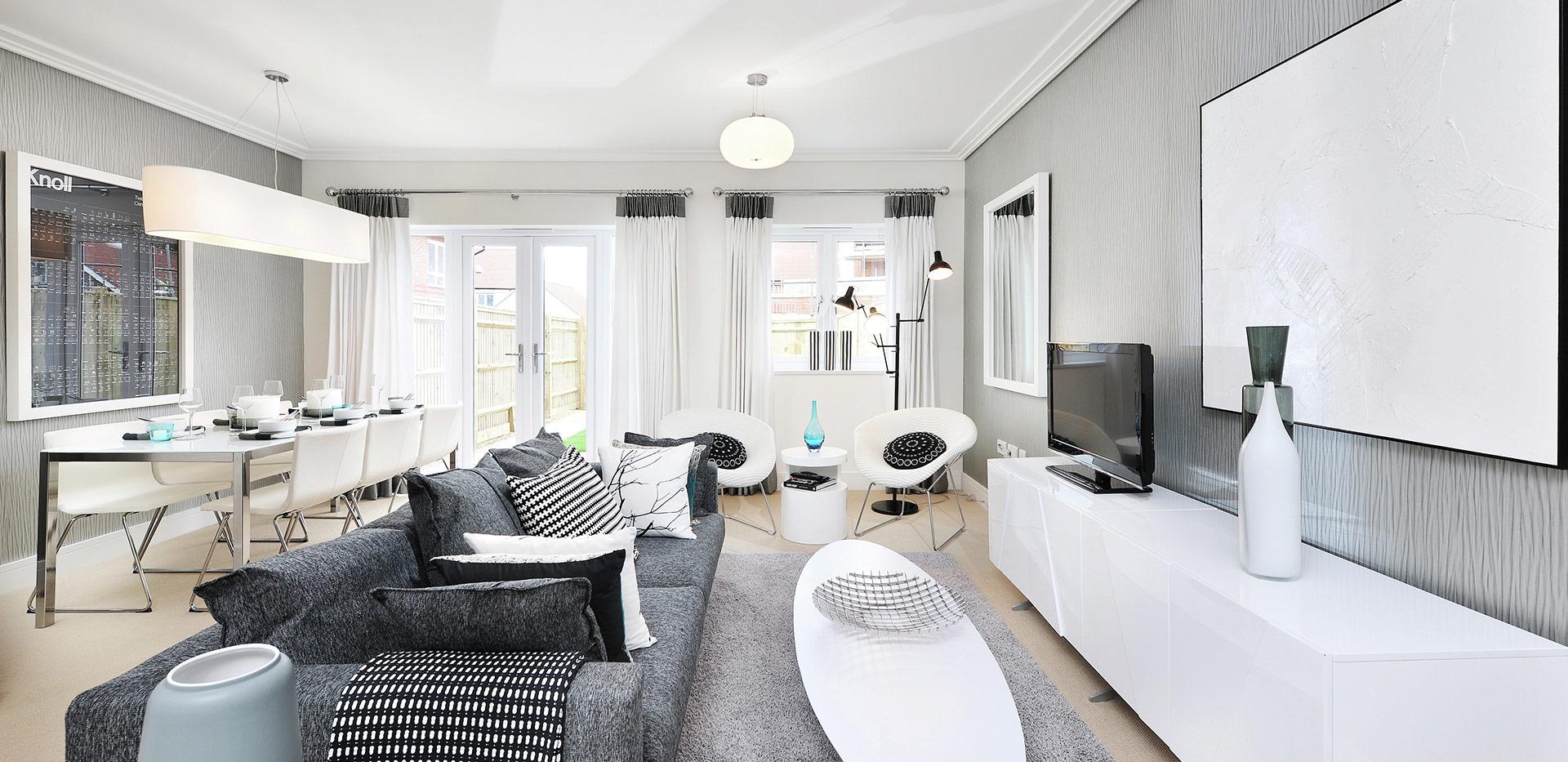 Berkeley, Edenbrook, Living Room, Interior